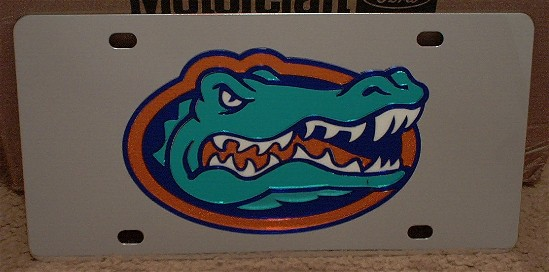 Florida Gators mascot vanity license plate car tag