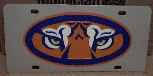 Auburn Tigers mascot vanity license plate car tag