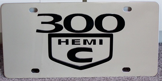 Chrysler 300 C Hemi vanity license plate car tag