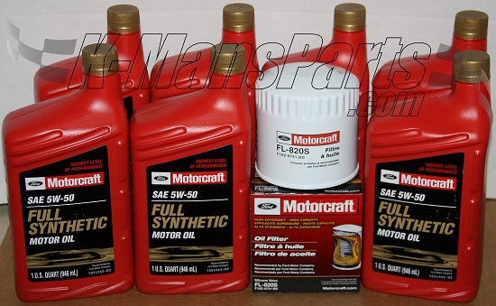 Motorcraft 5w 50 Full Synthetic Motor Oil Change Kit 2007