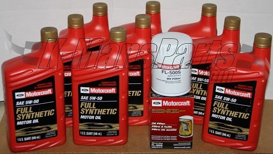 Motorcraft 5w 50 full synthetic motor oil change kit 2012 for 5w 50 synthetic motor oil