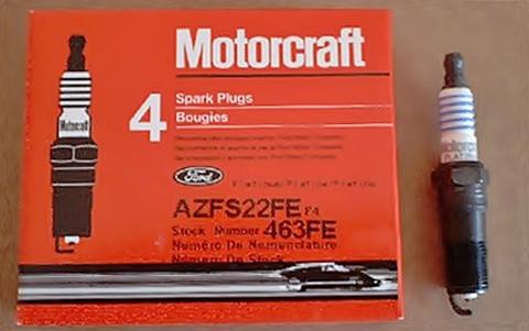 Motorcraft spark plugs AZFS-22-FE Focus Ztec 2.0 One step colder