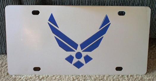 Air Force wings vanity license plate car tag