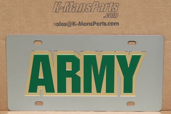 US Army vanity mirror license plate car tag