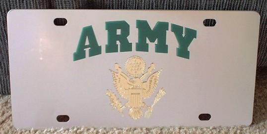 US Army vanity license plate car tag
