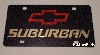 Chevrolet Suburban (red/gold) black plate