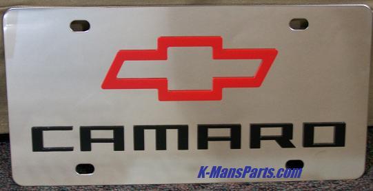 Chevrolet Camaro style S/S plate