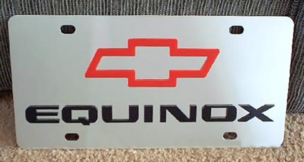 Chevrolet Equinox vanity license plate tag
