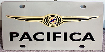 Chrysler Pacifica vanity license plate