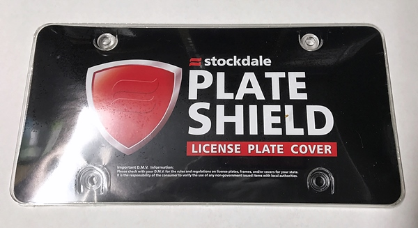 License plate tag acrylic bubble shield cover clear