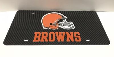 Cleveland Browns Carbon Fiber License Plate Tag