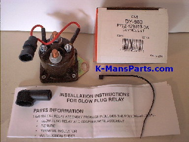 DY-860  Glow Plug Relay Wiring on