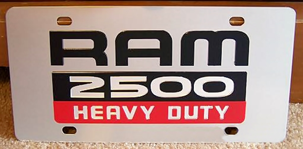 Dodge Ram 2500 Heavy Duty vanity license plate car tag
