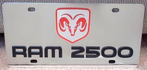 Dodge Ram 2500 vanity license plate car tag
