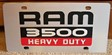 Dodge Ram 3500 Heavy Duty vanity license plate car tag
