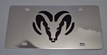 Dodge Ram black vanity license plate car tag