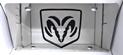 Dodge Ram shield black vanity license plate car tag