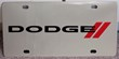 Dodge with stripes vanity license plate car tag