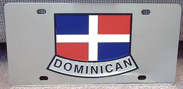 Dominican Republic flag vanity license plate tag