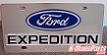 Ford Expedition vanity license plate car tag