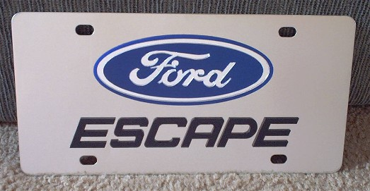 Ford Escape vanity license plate car tag