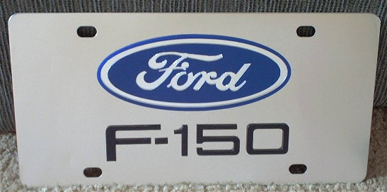 Ford F-150 Black s/s plate
