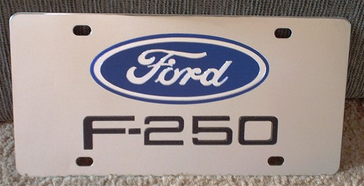 Ford F-250 Black s/s plate