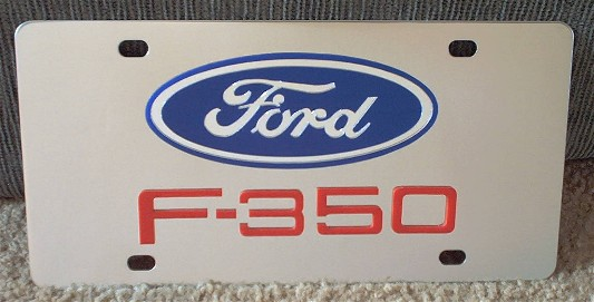 Ford F-350 Red s/s plate