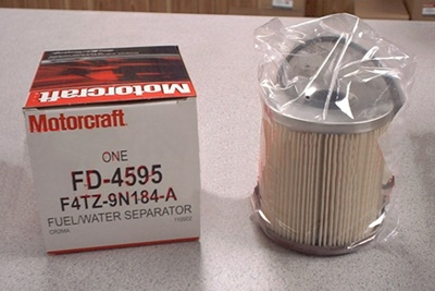 Motorcraft FD-4595 fuel filter 7.3 Power Stroke Turbo Diesel 1995-1998