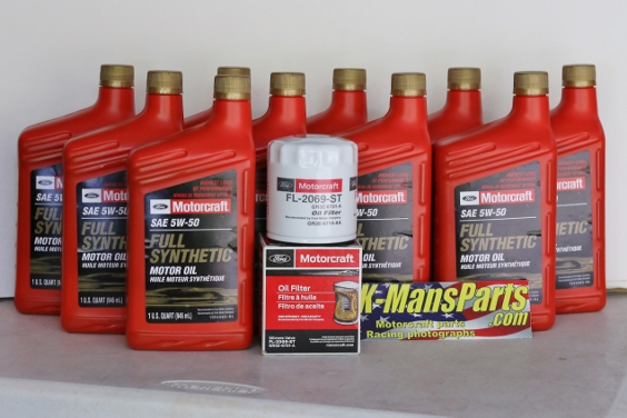 Full Synthetic Oil Change >> Motorcraft 10qt 5w 50 Full Synthetic Oil Change Kit 2016 2017 Gt350 5 2