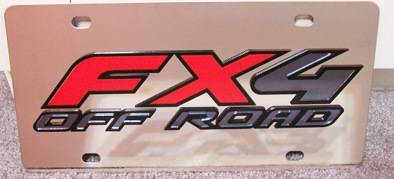 FX4 Off Road s/s plate