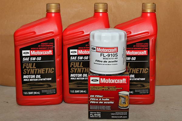 Full Synthetic Oil Change >> Motorcraft 5w 50 Full Synthetic Motor Oil Change Kit 2016 Focus Rs