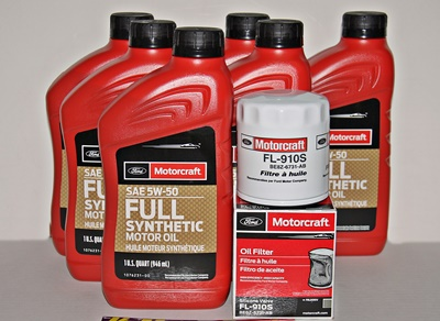 2016-2018 Focus RS Motorcraft 6qt 5W-50 Full Synthetic Oil change kit