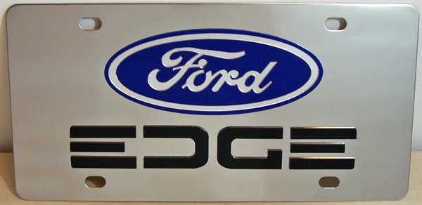 Ford Edge Black vanity license plate car tag
