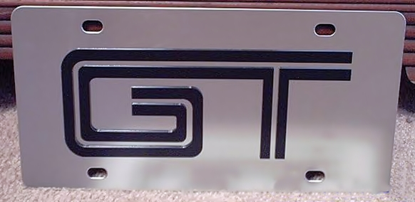 Mustang GT emblem stainless steel plate tag