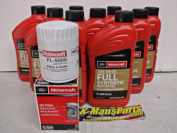 Full Synthetic Oil Change >> 2012 2013 Boss Motorcraft 9qt 5w 50 Full Synthetic Oil Change Kit