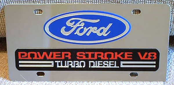Ford Power Stroke Turbo Diesel 6.0 V8 vanity plate