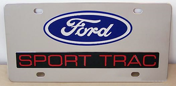 Ford Sport Trac vanity license plate car tag