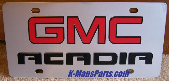 GMC Acadia (red/black) S/S plate