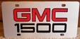 GMC 1500 vanity license plate