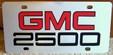 GMC 2500 vanity license plate tag