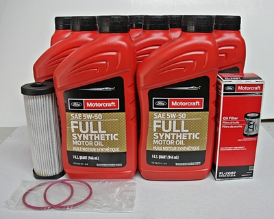 2017-2019 GT350 5.2 Motorcraft 10qt 5W-50 Full Synthetic Oil change kit