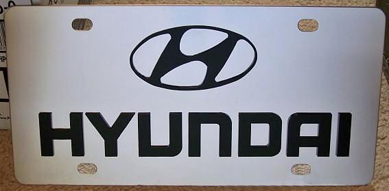 Hyundai word logo vanity license plate tag