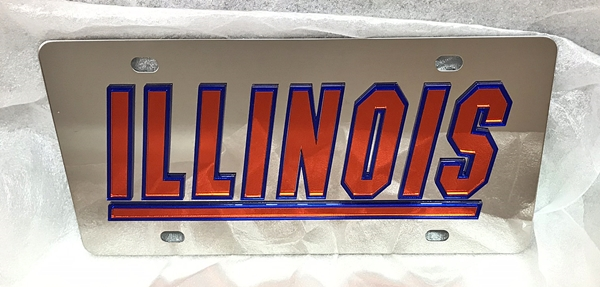 Illinois Fighting Illini vanity license plate car tag
