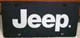 JEEP Mirror on black vanity license plate tag