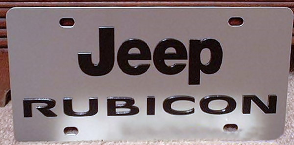 JEEP Rubicon stainless steel license plate tag