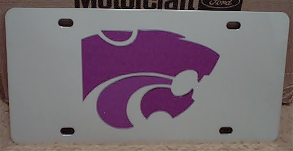 Kansas State Wildcats vanity license plate car tag