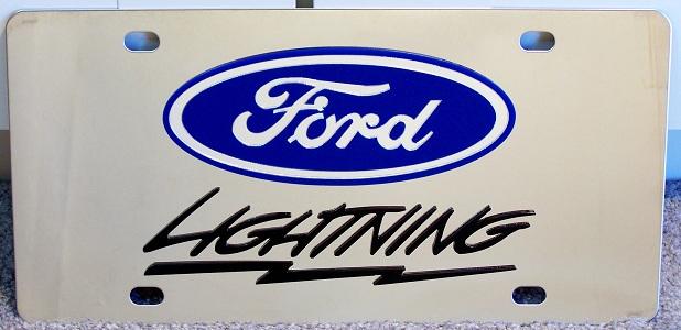 Ford F-150 Lightning Black s/s plate