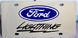 Ford F-150 Lightning Black s/s plate
