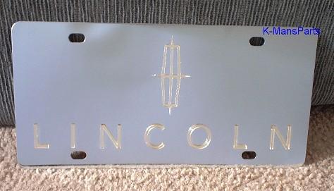 Lincoln w/script Gold S/S plate